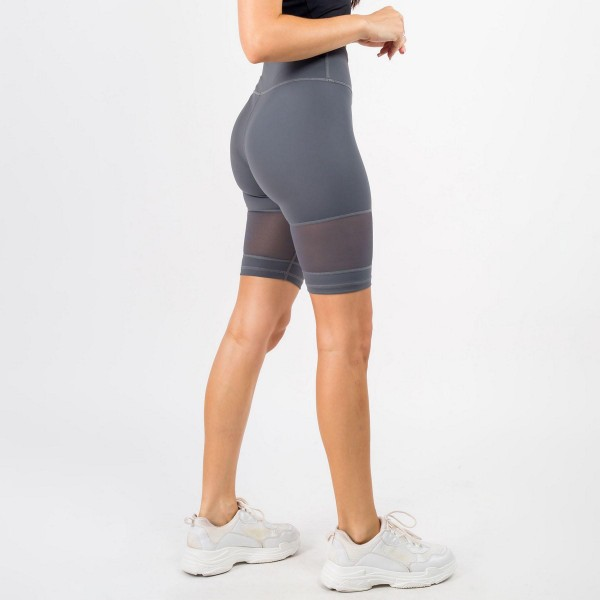 Women's Active Bike Shorts Featuring Mesh Details. (6 Pack)  - Elasticized high rise waistband • Squat Proof • Breathable mesh panels • Crop knee length hem • Soft and stretchy • Moisture wicking fabric • Fits like a glove • 4-way-stretch fabric for a move-with-you feel • Tummy-flattening waistband with interior hidden pocket • Flat lock seams prevent chafing  Composition: 75% Nylon, 25% Spandex  Pack Breakdown: 6pcs/pack. 2S: 2M: 2L