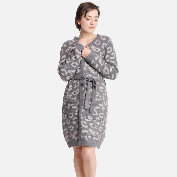 Comfy Luxe Cardigan that can also be worn as a robe    -One size fits most 0-14 -100% Polyester