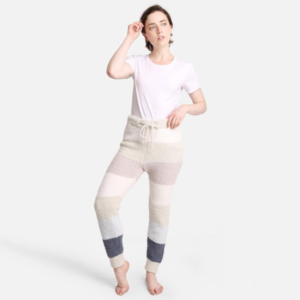 """Comfy Luxe Ultra Plush Lounge Pants  - Size L/XL: US Women's Size 10-14 - Drawstring Elastic Waist Band - Pockets - 31"""" Inseam - 100% Polyester Microfiber"""