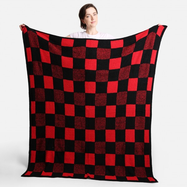 """Super Soft Jacquard Buffalo Check Comfy Luxe Knit Blanket. The Softest Throw Blanket Made of the Highest Quality Material. So Soft You Have to Feel Them for Yourself. This Luxurious Throw is a Guaranteed Best Seller this Season!   - Approximately 50"""" W x 60"""" L -100% Polyester  - Extra Plush and Cozy"""
