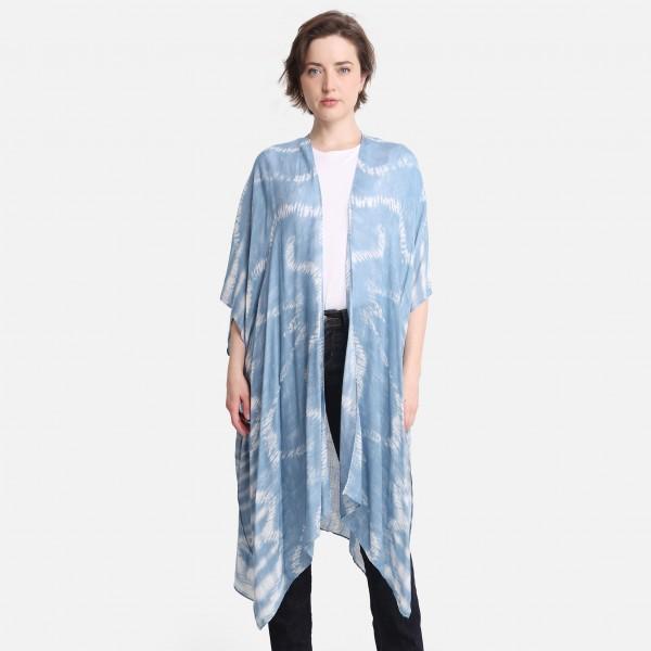 "Lightweight Tie Dye Kimono.   - One Size Fits Most 0-14 - 100% Viscose - Approximately 38"" L"