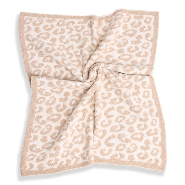 """Super Soft Jacquard Animal Print Comfy Luxe Knit Baby Blanket. The Softest Throw Blanket Made of the Highest Quality Material. So Soft You Have to Feel Them for Yourself. This Luxurious Throw is a Guaranteed Best Seller this Season!  - Approximately 29"""" W x 35"""" L - 100% Polyester - Extra Plush and Cozy"""
