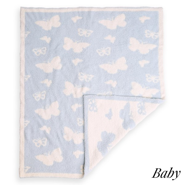 """Super Soft Butterfly Print Comfy Luxe Knit Baby Blanket. The Softest Throw Blanket Made of the Highest Quality Material. So Soft You Have to Feel Them for Yourself. This Luxurious Throw is a Guaranteed Best Seller this Season!  - Approximately 29"""" W x 35"""" L - 100% Polyester - Extra Plush and Cozy"""