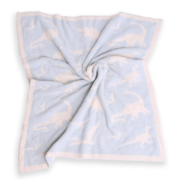 """Super Soft Dinosaur Print Comfy Luxe Knit Baby Blanket. The Softest Throw Blanket Made of the Highest Quality Material. So Soft You Have to Feel Them for Yourself. This Luxurious Throw is a Guaranteed Best Seller this Season!  - Approximately 29"""" W x 35"""" L - 100% Polyester - Extra Plush and Cozy"""
