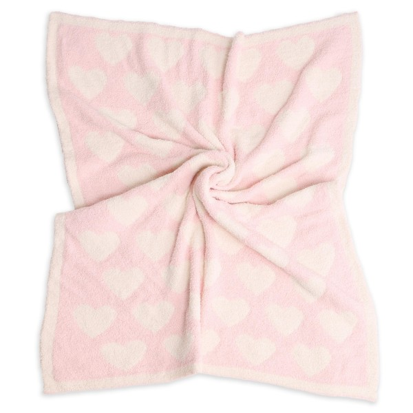 """Super Soft Heart Print Comfy Luxe Knit Baby Blanket. The Softest Throw Blanket Made of the Highest Quality Material. So Soft You Have to Feel Them for Yourself. This Luxurious Throw is a Guaranteed Best Seller this Season!  - Approximately 29"""" W x 35"""" L - 100% Polyester - Extra Plush and Cozy"""