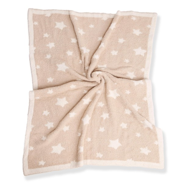 """Super Soft Star Comfy Luxe Knit Baby Blanket. The Softest Throw Blanket Made of the Highest Quality Material. So Soft You Have to Feel Them for Yourself. This Luxurious Throw is a Guaranteed Best Seller this Season!  - Approximately 29"""" W x 35"""" L - 100% Polyester - Extra Plush and Cozy"""