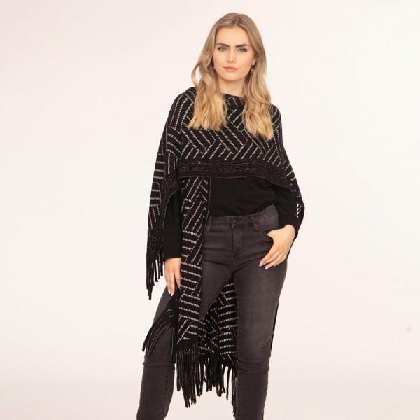 Knit Kimono featuring fringe tassels  -One size fits most 0-14 -100% Acrylic