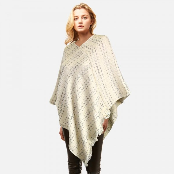 Wholesale poncho frayed edges One fits most Polyester