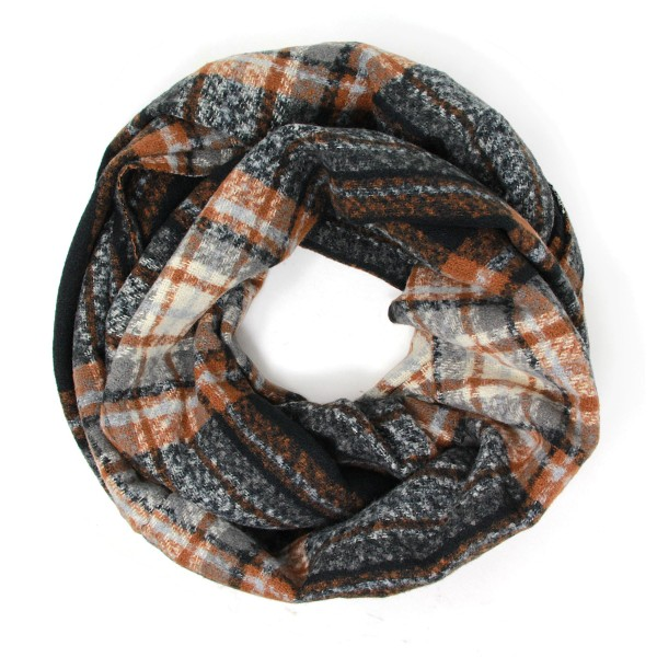 """Women's Plaid Knit Scarf   - One Size Fits Most  - Approximately 62"""" x 20""""  - 100% Polyester"""