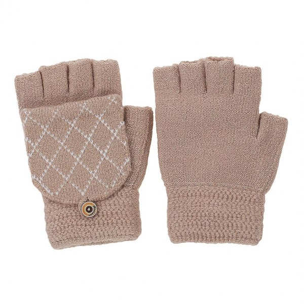 Fingerless Gloves with Mitten Flap   -One size fits most  -100% Polyester  -Button detail to hold mitten flap