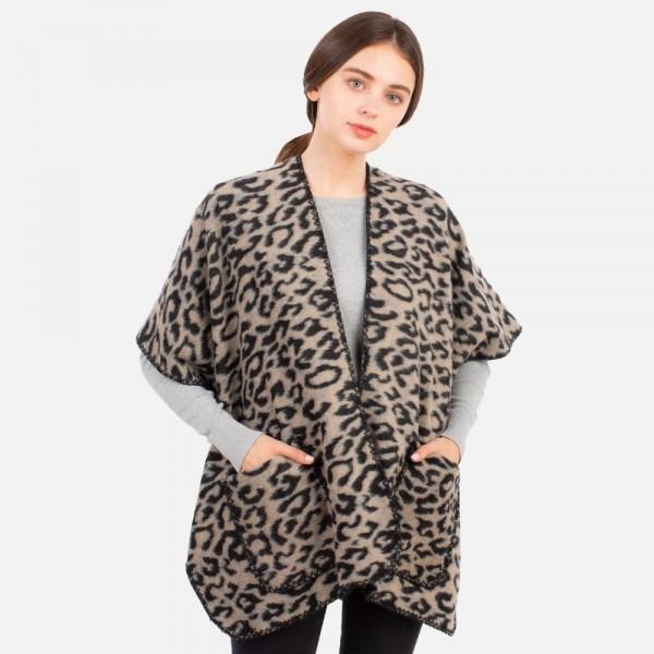 Animal Print Kimono   -One size fits most 0-14 -100% Polyester