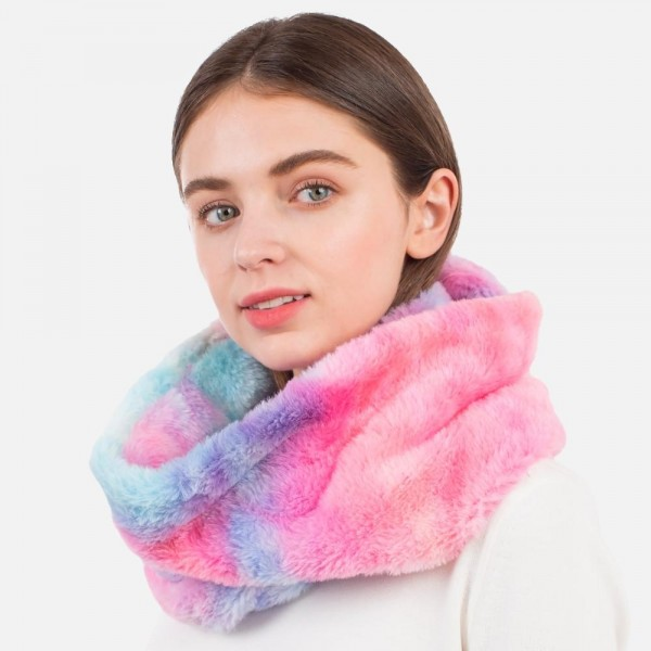Faux Fur Infinity Scarf  - One Size Fits Most - 100% Polyester