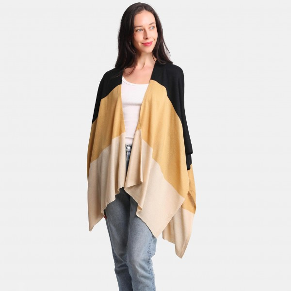 Colorblock Kimono -One size fits most 0-14 -100% Acrylic