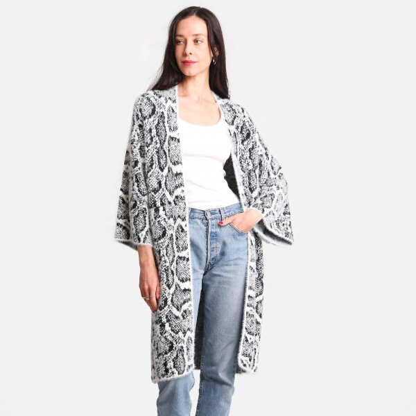 Comfy Luxe Leopard Print Cardigan  -One size fits most 0-14 -100% Polyester