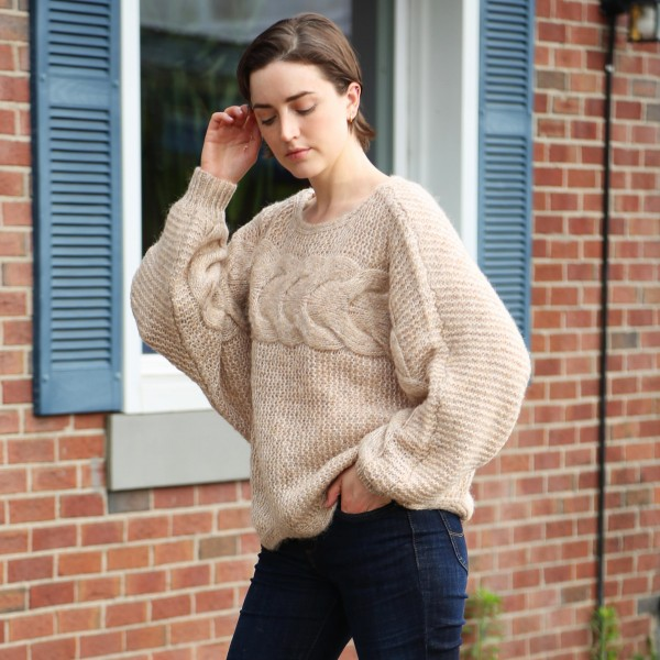 """Comfy Luxe Solid Knit Sweater   - One Size Fits Most 0-14 -  Approximately 22"""" Long  - 50% Acrylic/25% Polyester/20% Nylon/5% Elastane"""