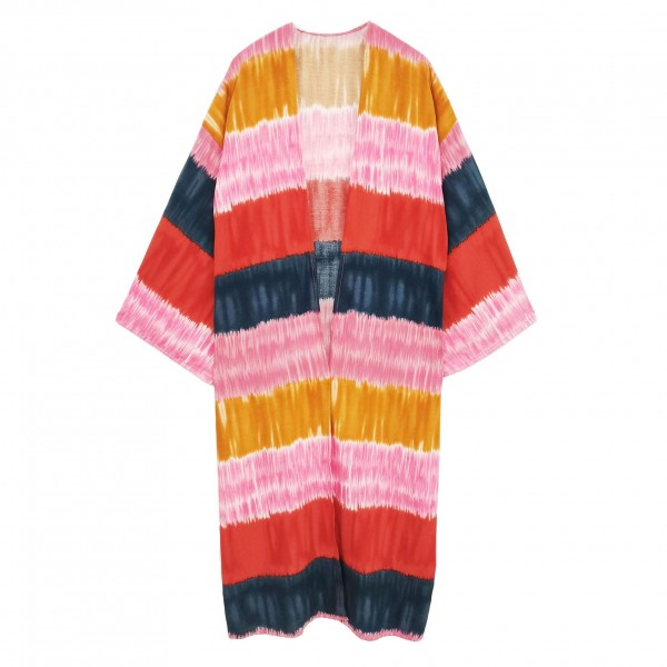 Do Everything in Love lightweight colorblock kimono -One size fits most -100% Viscose