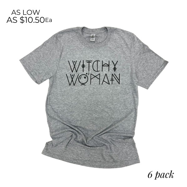 Wholesale witchy Woman Graphic Tee Printed Gildan Soft Tee Color Graphite Shirts