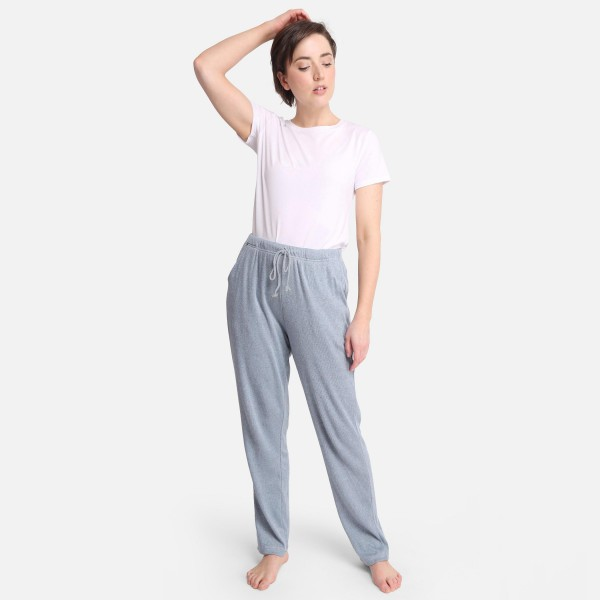 """Comfy Luxe Soft Knit Lounge Pants  - Size S/M: US Women's Size 2-8 - Elastic Drawstring Waist Band - 27"""" Inseam - 47% Rayon / 24% Polyester / 24% Nylon / 5% Spandex"""