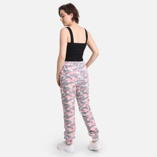 """Comfy Luxe Camo Print Lightweight Lounge Pants  - Size S/M: US Women's Size 2-8 - Elastic Drawstring Waist Band - Pockets - 29"""" Inseam - 98% Polyester / 2% Spandex"""