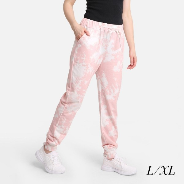 """Comfy Luxe Acid Wash Lightweight Lounge Pants  - Size S/M: US Women's Size 2-8 - Elastic Drawstring Waist Band - Pockets - 31"""" Inseam - 98% Polyester / 2% Spandex"""