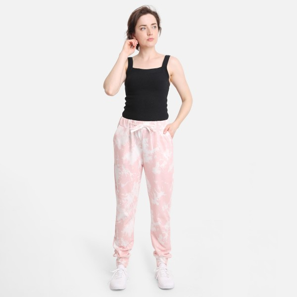 """Comfy Luxe Acid Wash Lightweight Lounge Pants  - Size S/M: US Women's Size 2-8 - Elastic Drawstring Waist Band - Pockets - 29"""" Inseam - 98% Polyester / 2% Spandex"""