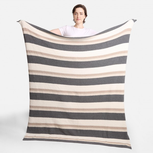 """Super Soft Striped Comfy Luxe Knit Blanket. The Softest Throw Blanket Made of the Highest Quality Material. So Soft You Have to Feel Them for Yourself. This Luxurious Throw is a Guaranteed Best Seller this Season!   - Approximately 50"""" W x 60"""" L -100% Polyester  - Extra Plush and Cozy"""