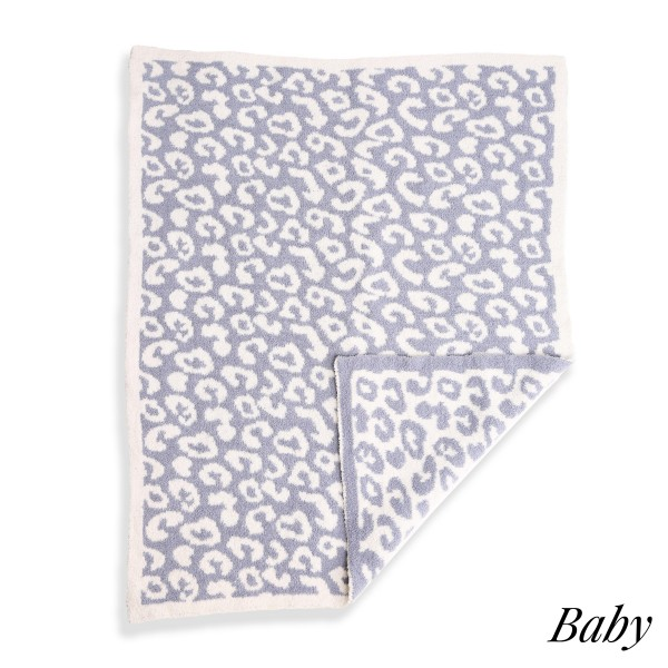 Wholesale super Soft Jacquard Animal Print Comfy Luxe Knit Baby Blanket Softest