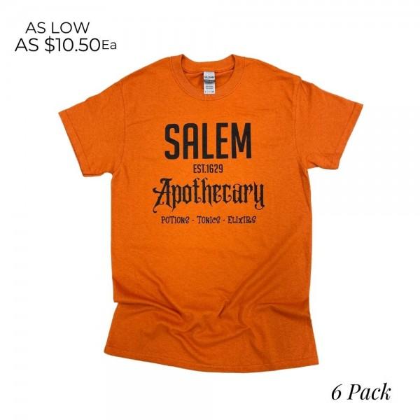 Salem Apothecary Graphic Tee  -Printed on Gildan Heavy Cotton Brand Tee -Sizes: 1:S 2:M 2:L 1:XL -100% Cotton