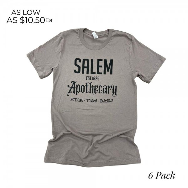 Salem Apothecary Graphic Tee  -Printed on Bella Canvas Brand Tee -Sizes: 1:S 2:M 2:L 1:XL -100% Cotton