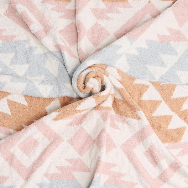 """Super Soft Jacquard Aztec Print Comfy Luxe Knit Blanket. The Softest Throw Blanket Made of the Highest Quality Material. So Soft You Have to Feel Them for Yourself. This Luxurious Throw is a Guaranteed Best Seller this Season!  - Approximately 50"""" W x 60"""" L -100% Polyester - Extra Plush and Cozy"""