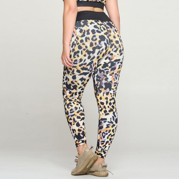Women's Plus Size Neon Cheetah Print Activewear Leggings  - High waisted - 4-way stretch for more movement - Squat proof - All over print, with solid color waistband - Lightweight fabric that keeps you cool - Imported  - 46% Polyester / 41% Nylon / 13% Spandex - Pack Breakdown: 3pcs - Size: XL