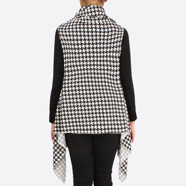 Houndstooth Print Game Day Vest.  - One size fits most 0-14 - 100% Polyester