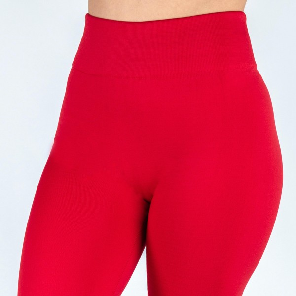"New Mix brand Plus Size women's solid color full length fleece lined seamless leggings.  - One size fits most 14-20 - Size suggestions are approximate - Fit depends on height and body shape - Inseam approximately 27"" in length - 92% Nylon, 8% Spandex"