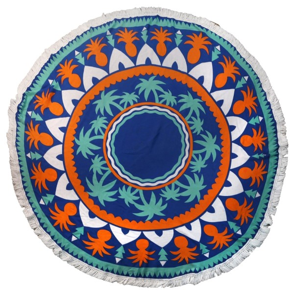 """Do everything in Love Brand Lightweight Tropical Print Round Beach Throw.  - Approximately 59"""" in Diameter - 100% Viscose"""
