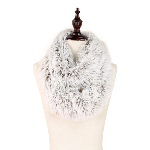 Wholesale faux Fur Infinity Scarf W L Polyester
