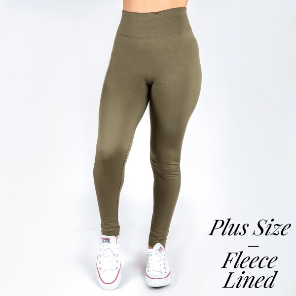 Wholesale mix brand Plus women s solid color full fleece lined seamless legging