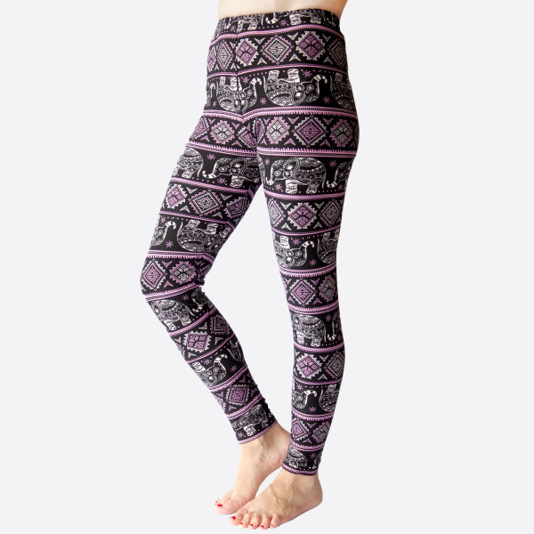 Wholesale kathy Mix printed peachskin leggings seamless chic must have every wa