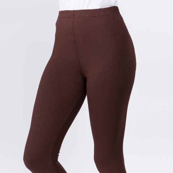 """Women's New Mix Brand 1"""" Waistband Solid Peach Skin Leggings.  - 1"""" Elastic Waistband - Full-Length - Inseam approximately 28"""" - One size fits most 0-14 - 92% Polyester 8% Spandex"""