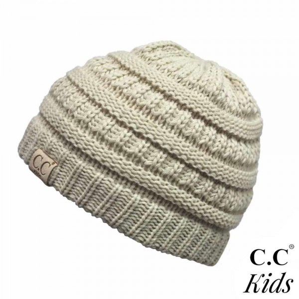 """C.C YJ-847KIDS Knit beanie for kids  - 100% Acrylic - Band circumference is approximately:  14"""" unstretched  18"""" stretched - Approximately 6"""" long from crown to band - Fit varies based on child's head height and shape"""