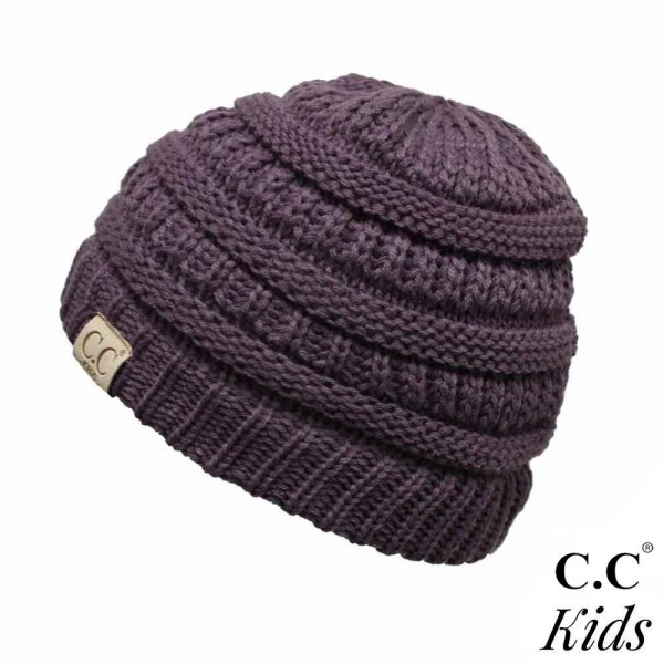 C.C YJ-847KIDS Kids Solid Knit Beanie  - One size fits most Kids  - 100% Acrylic