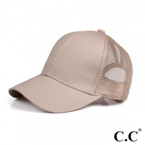 Wholesale cC Pony Cap BT Solid Color Baseball Cap Mesh Back One fits most Adjust