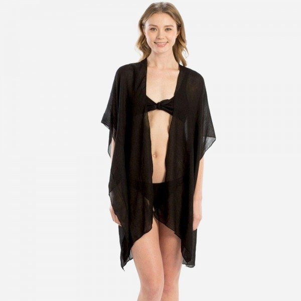 "Women's Lightweight Sheer Kimono Featuring ""Bride Tribe"" Back Detail.  - One size fits most 0-14 - Approximately 35"" in Length - 100% Viscose"