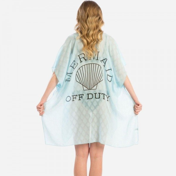 Wholesale lightweight kimono swimsuit cover up Mermaid Duty back viscose One fit