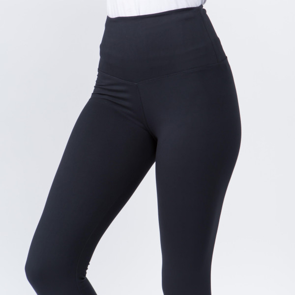 """Women's New Mix Brand 5"""" Waistband Solid Peach Skin Leggings.  - 5"""" Elastic Waistband - Full-Length - Inseam approximately 28""""  - One size fits most 0-14 - 92% Polyester / 8% Spandex"""