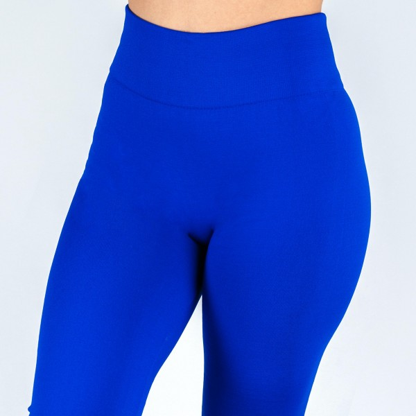 "Women's Plus Size New Mix Brand Solid Color Seamless Fleece Lined Leggings.  - Fleece Lined - 2"" Elastic Waistband - Full-Length - One size fits most 16-22 - Inseam Approximately 26"" L  - 92% Nylon / 8% Spandex"