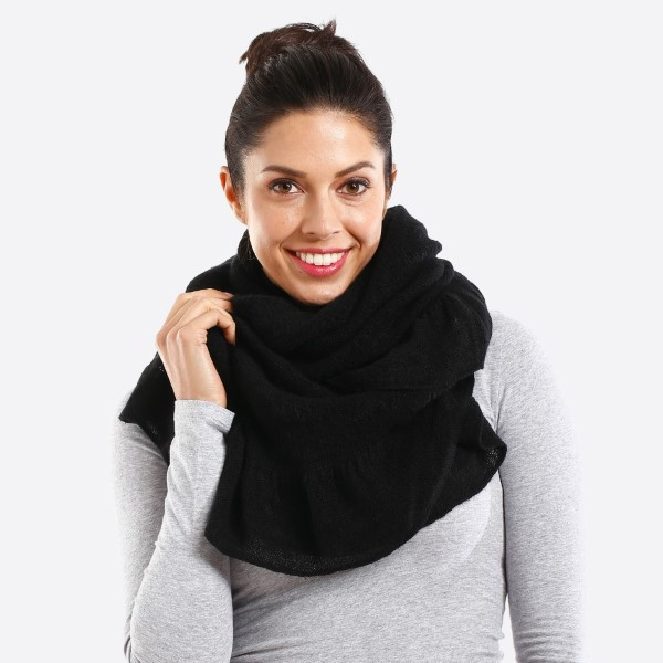 Wholesale solid color infinity scarf ruffle acrylic