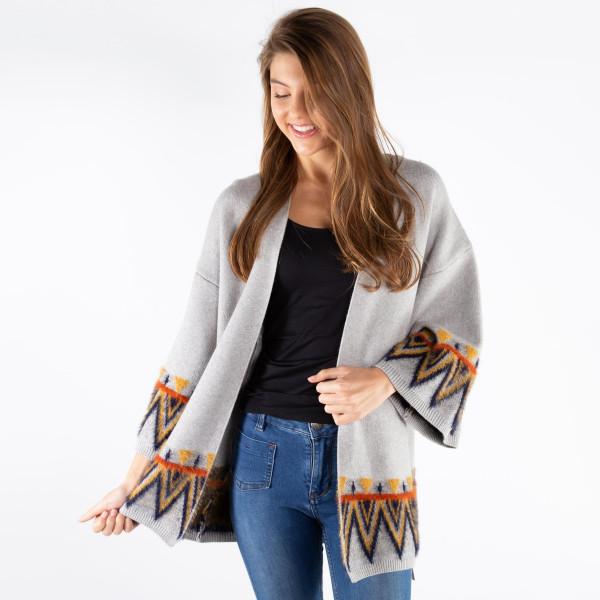Wholesale soft cardigan aztec border Viscose Nylon polyester One fits most