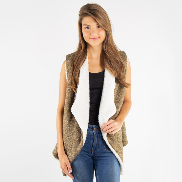 Wholesale soft touch vest acrylic One fits most