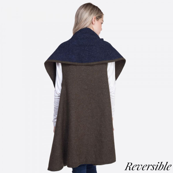 Heavyweight shawl vest. 100% acrylic.   One size fits most.