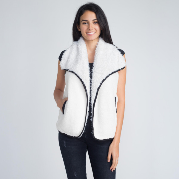Wholesale faux sherpa vest polyester One fits most
